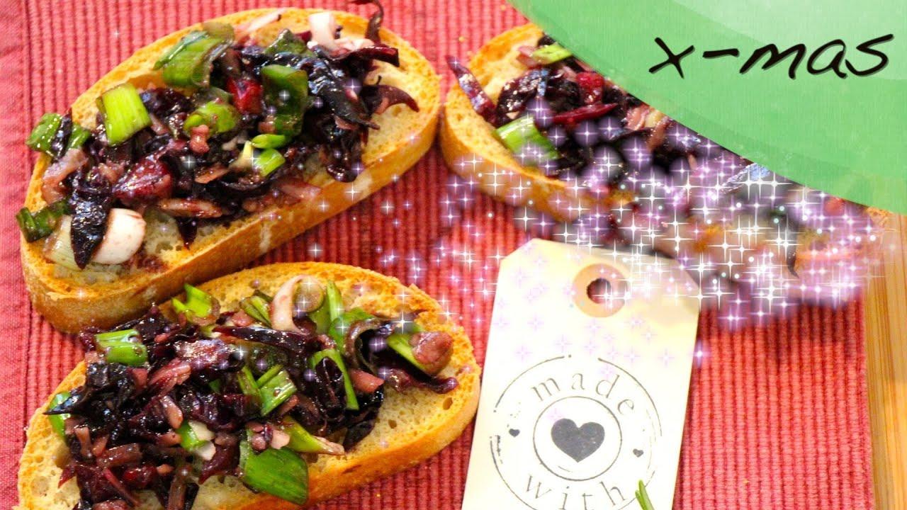 Kochen mit LadyLandrand - Weihnachtsküche - Rotkohl- Crostinis - YouTube