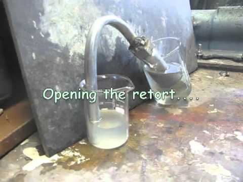KOH + Magnesium Metal Reaction In A Retort
