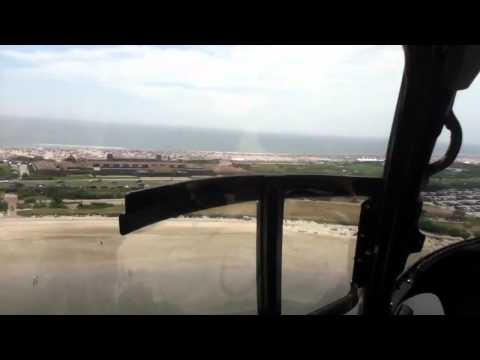 Helicopter flight from republic airport to jones beach roun