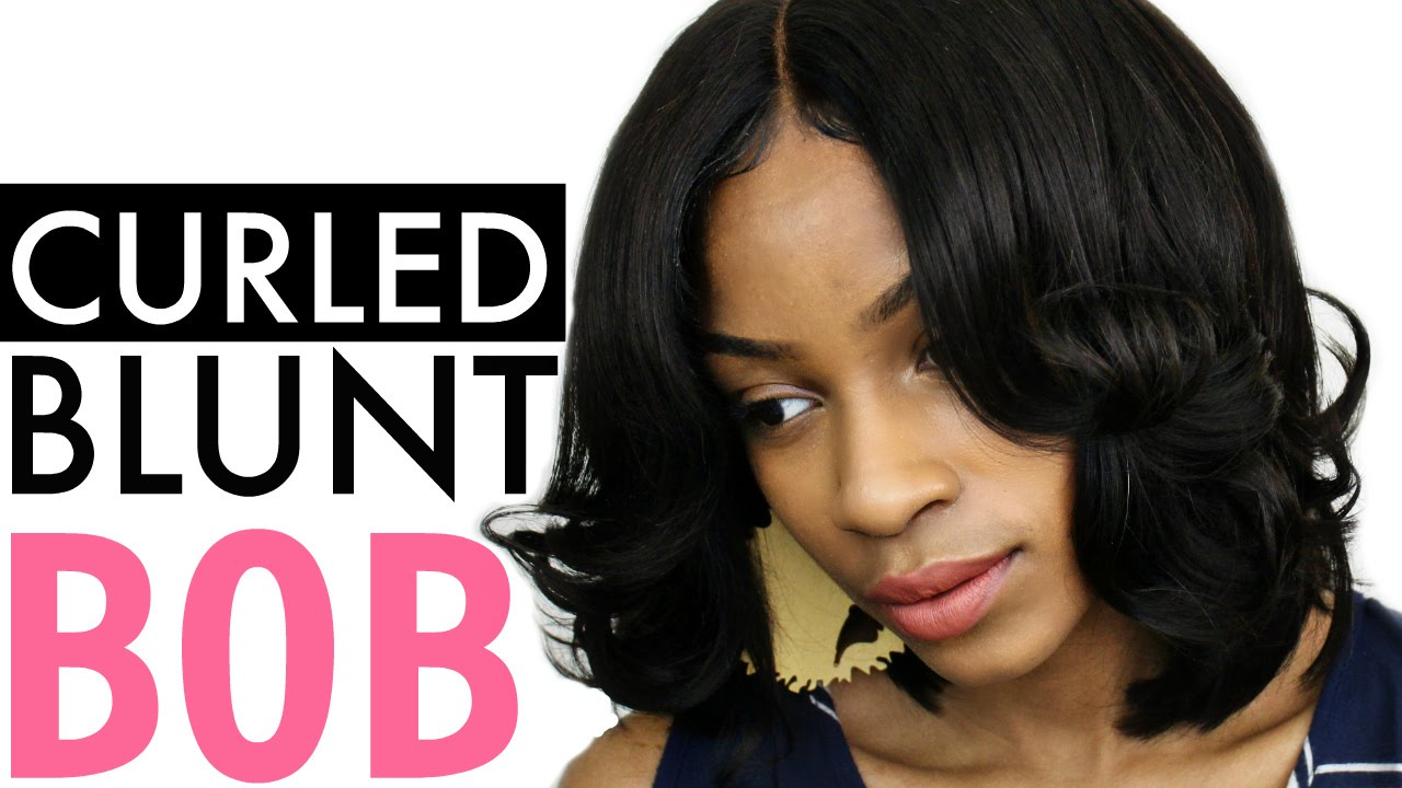How To Curl A Bob With A Flat Iron Blunt Bob Youtube