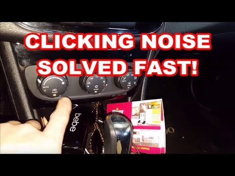 Chrysler 200 CLICKING NOISE EASY FIX 2011-2014 tapping hvac ac heater recirculation actuator motor