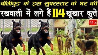 बॉलीवुड के इस सुपरस्टार के घर की रखवाली में लगे हैं 114 खूंखार कुत्ते`
