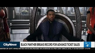 'Black Panther' breaks record for advance ticket sales