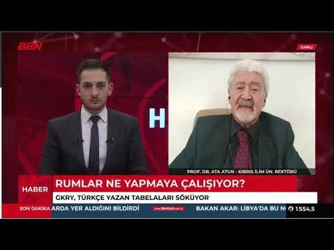 ATA ATUN -BBN TURK TV, CB Erdoğan'ın, F. Oktay'ın ve H. Akar'ın açıklamalarının siyasi yorumu.