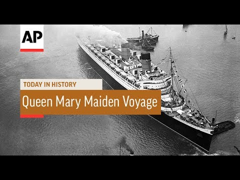 RMS Queen Mary Maiden Voyage - 1936 | Today In History | 27 May 17