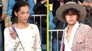G-Dragon & Kiko Mizuhara at Paris Chanel Show 30 September 2014