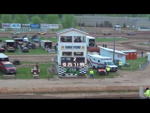 IMCA Stock Cars Heat #1 6-2-2018 @ Shawano Speedway Wisconsin Dirt Track