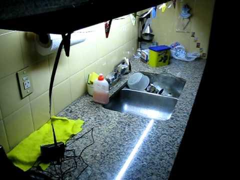 cocina tubo de w blanco frio contra mts de tira de led con leds x metroavi