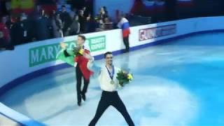 Javier Fernandez, European Championships Figureskating, Minsk 2019, after medal ceremony