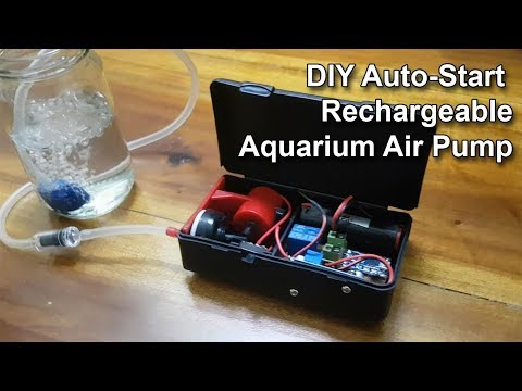 Automatic Air Pump (Rechargeable Auto Start) – How To DIY Automate Your Aquarium