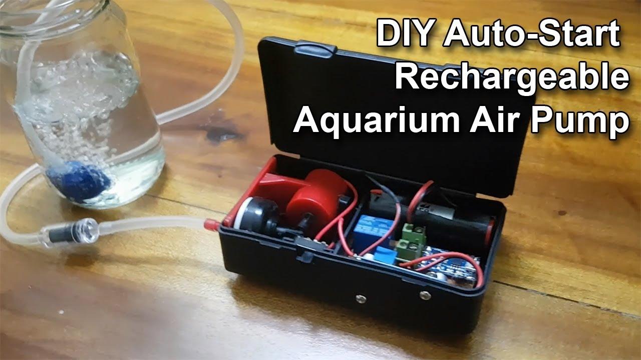 Diy Auto Start Rechargeable Aquarium Air Pump 6 Steps With