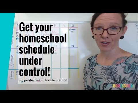 Creating a productive and flexible homeschooling schedule