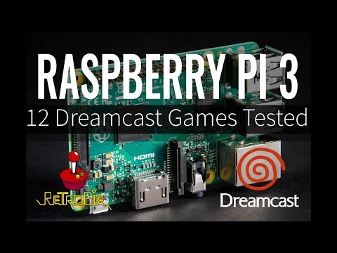 Raspberry Pi 3 Dreamcast Emulation - 12 Dreamcast Games Tested with RetroPie 3.6 (Reicast)
