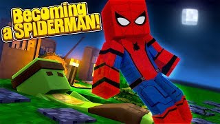 HOW TO BECOME SPIDERMAN! Minecraft How To w/TinyTurtle
