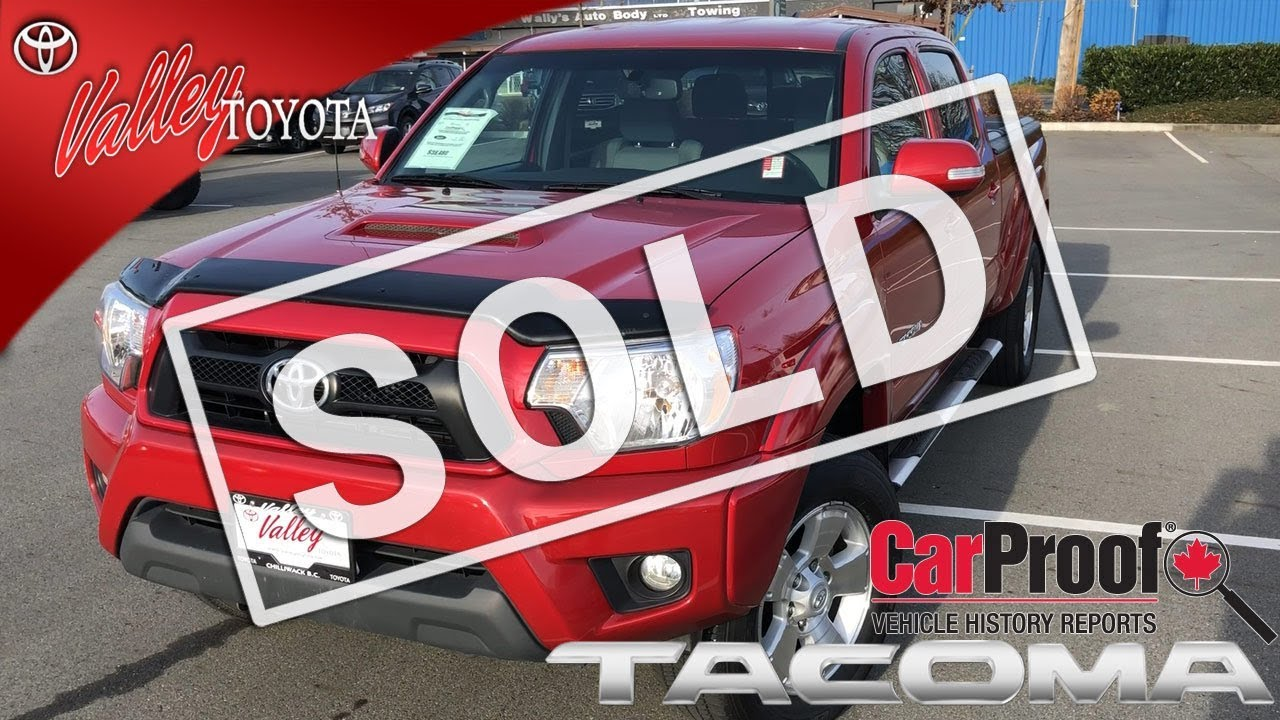 SOLD) Used 2015 Toyota Tacoma TRD Double Cab for sale at Valley ...