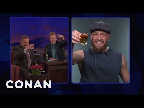 Conan & Andy Toast Conor McGregor Ahead Of UFC 229  - CONAN on TBS