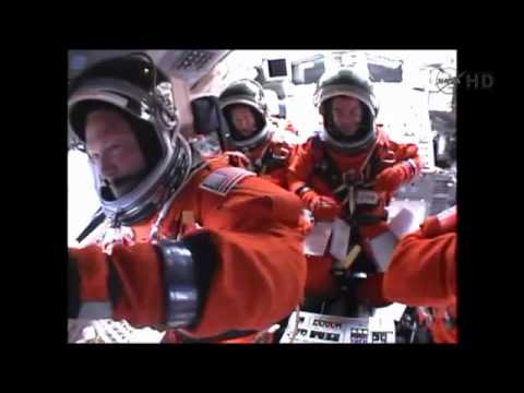 STS-135 Launch & Ascent inside the crew cabin