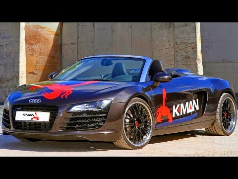 K.MAN Audi R8 Spyder GTK RS 2014 4.2 V8 Biturbo 750 cv 0-200 kmh 10,6 s 1.680 kg