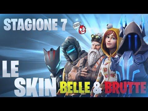 LE SKIN PIU' BELLE & BRUTTE DELLA STAGIONE 7 ❄️ Fortnite Battle Royale ⛏️ Pazzox