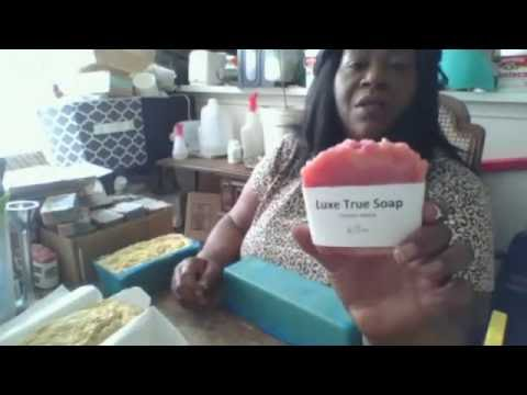 Cutting Shea Butter, Coconut Oil and Cocoa Butter hot process soap