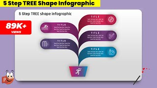 4.Create 5 Step TREE SHAPE infographics/PowerPoint Presentation/Graphic Design/Free Template