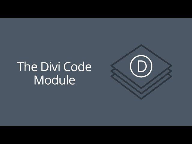 The Divi Code Module