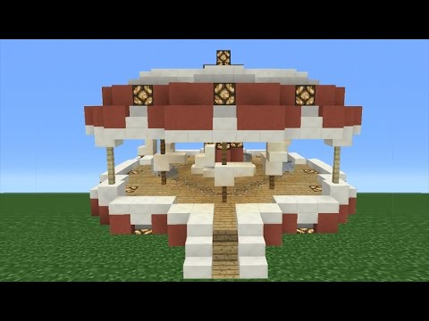 Minecraft Tutorial: How To Make A WORKING Carousel (Theme Park)