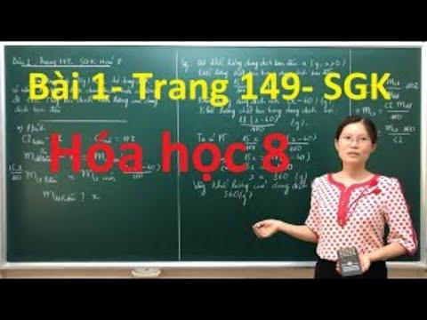Hóa 8 # Bài 1 Trang 149 Sách Giáo Khoa Hóa Học 8.