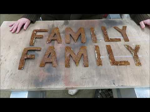how we make metal craft letters