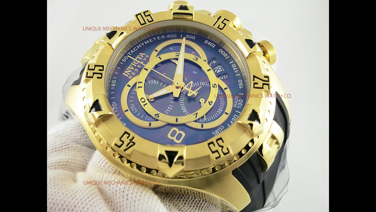 c052f241a17 Invicta 6976 Excursion Reserve Gold Tone MOP Chronograph Watch - YouTube