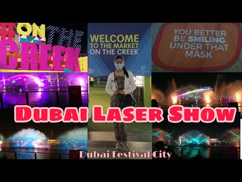 Dubai Festival City Laser Show 2021 l Light & Water Show l Amazing Dubai Fountain Show