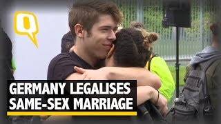 Germany Celebrates the Legalisation of Same-Sex Marriage | The Quint