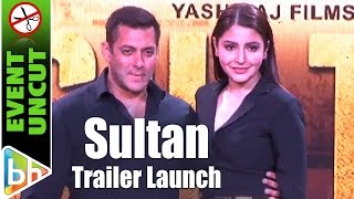 vuclip Sultan OFFICIAL Trailer Launch | Salman Khan | Anushka Sharma | Event Uncut