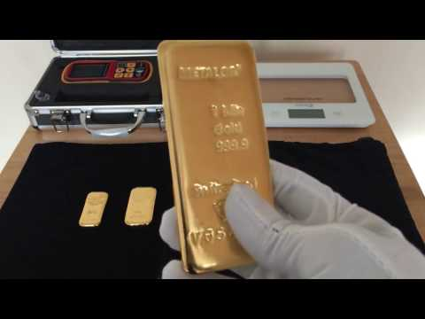 Umicore 1kilo gold bar and metalor 1kilo gold bars plus 250g and 500g bar