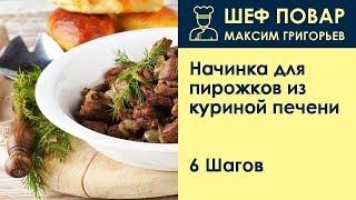 Начинка для пирожков из куриной печени . Рецепт от шеф повара Максима Григорьева