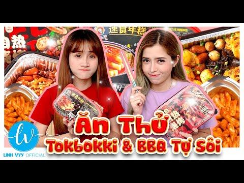 Lần Đầu Ăn Thử Tokbokki Và BBQ Tự Sôi Siêu Ngon I Linh Vyy Official @Linh Barbie  @Vê Vê Channel