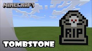Minecraft: Pixel Art Tutorial and Showcase: RIP Tombstone (Happy Halloween)