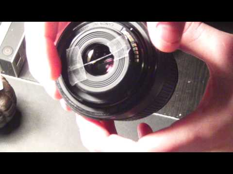 How to make Anamorphic Lens Flares on a DSLR