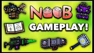 Pixel Gun 3D - Noob Weapon Gameplay!
