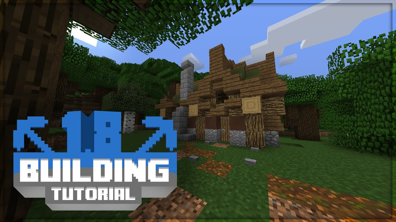 Minecraft turorial 1 8 building tutorial forest for Construct a house online