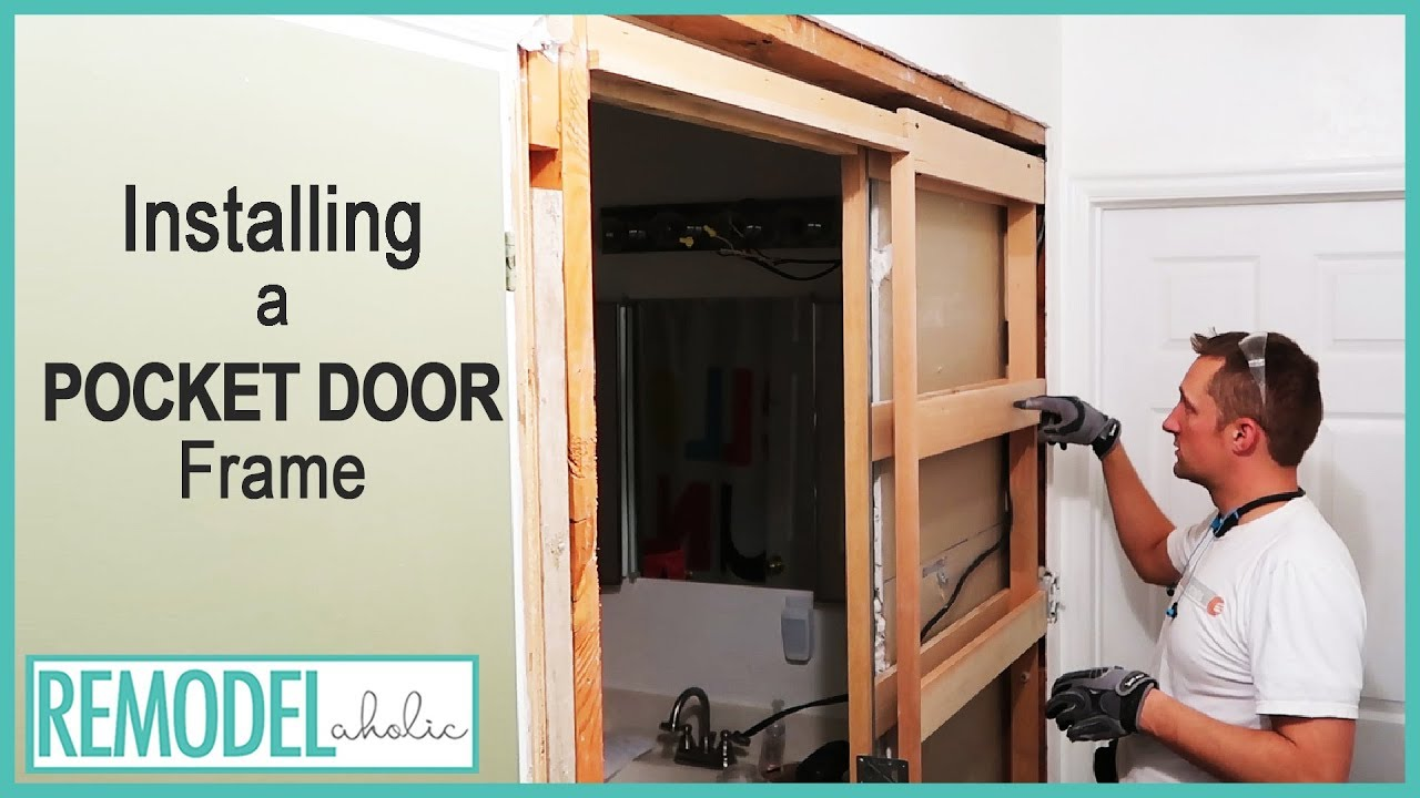 Installing A Pocket Door Frame In An Existing Wall Youtube