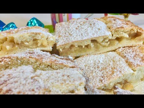 Творожный Пирог с Яблоками/Домашняя выпечка /Очень лёгкий