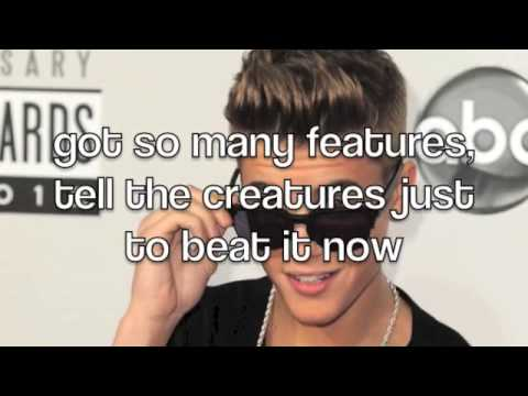 Justin Biebers Part In Lolly (lyrics on screen)