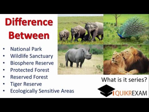 Difference Between National Park,Wildlife Sanctuary,Biosphere Reserve