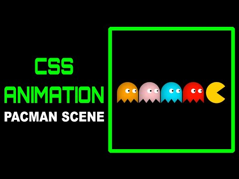 Pure CSS Pac-Man/ Text Based Scene:CSS Animation (CSS Speed Art)
