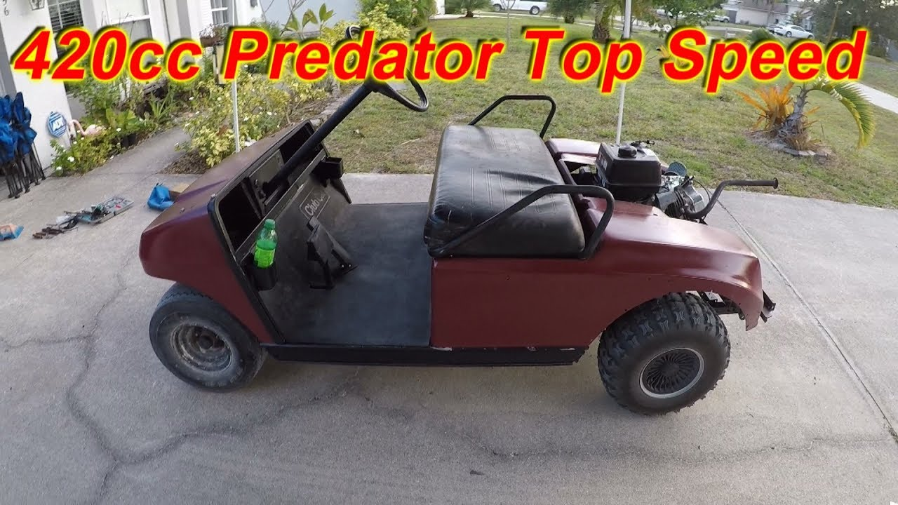 420cc Predator Golfcart Top Speed And More #smallenginenation