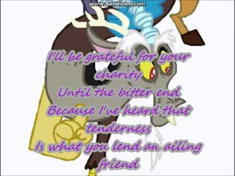 MLP Discord song-a glass of water  lyrics + instrumetal