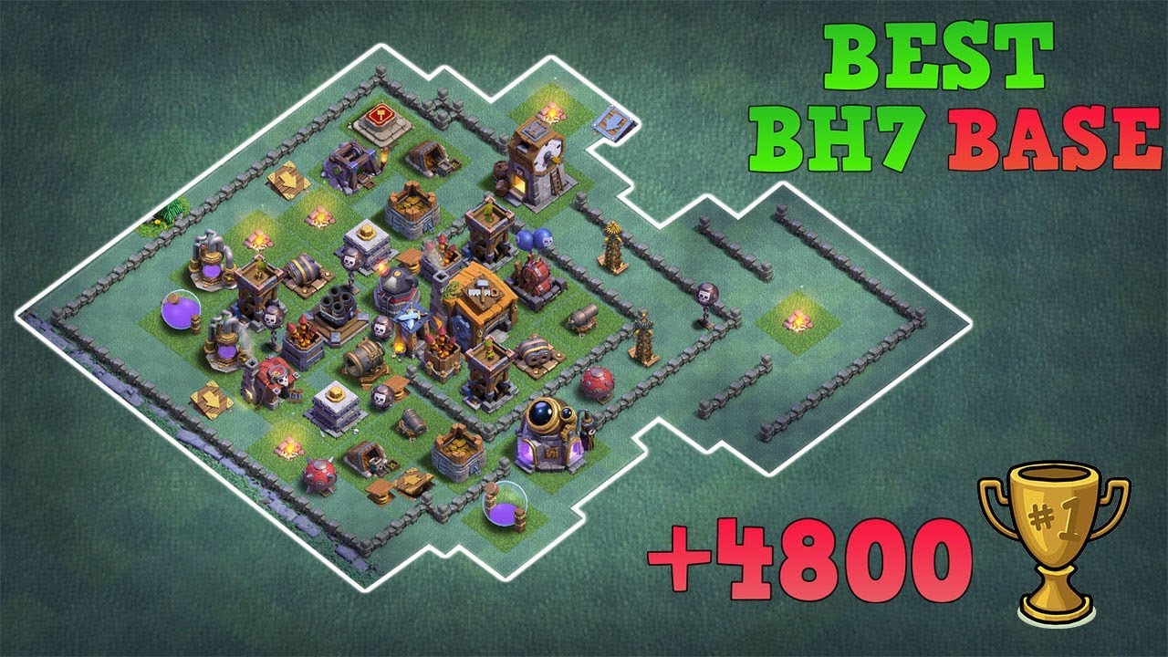 Best Builder Hall 7 Base W Replay Coc Bh7 Base Anti 1