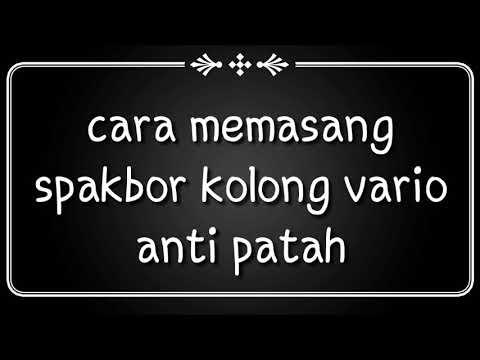 Pasang Spakbor Kolong / Hugger Vario 2018 Anti Patah Patah Club