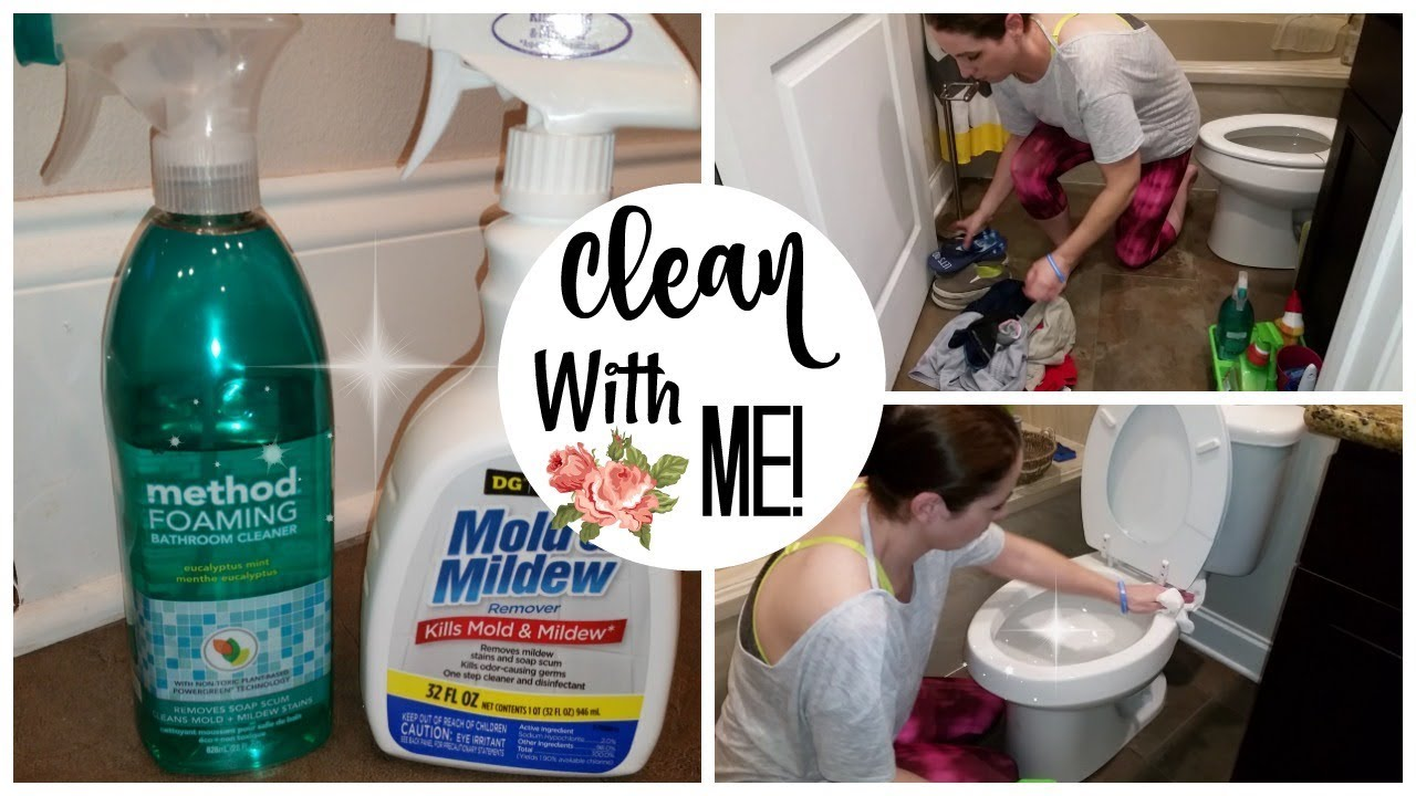 CLEAN WITH ME BATHROOMS YouTube - Method bathroom cleaner ingredients